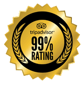 Trip Advisor 99% Rating